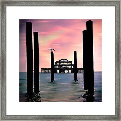 West Pier Silhouette Framed Print by Chris Lord