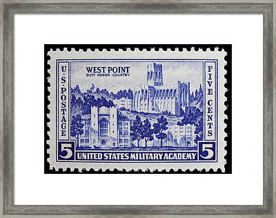 West Point Postage Stamp Framed Print by James Hill