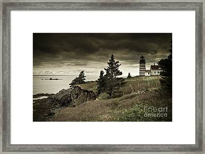 Framed Print featuring the photograph West Quoddy Head Lighthouse by Alana Ranney