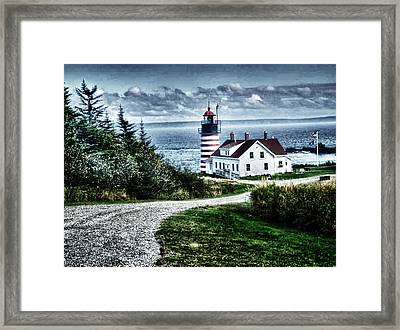 Framed Print featuring the photograph West Quoddy Lighthouse by Kelly Reber