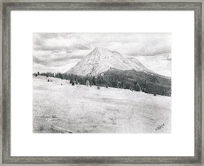 West Spanish Peak Framed Print by Joshua Martin