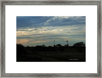West Texas Sunset Framed Print by Travis Burgess