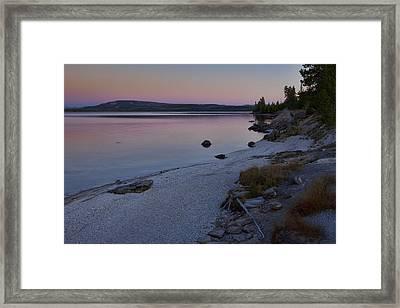 West Thumb Sunset Framed Print