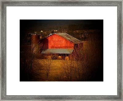 West Va Barn Framed Print by Joyce Kimble Smith