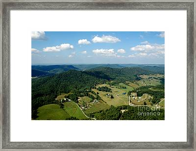 West Virginia Aerial  Framed Print by Thomas R Fletcher
