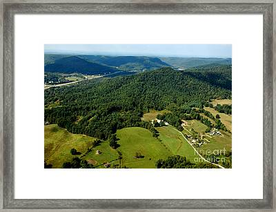 West Virginia Aerial View Framed Print by Thomas R Fletcher