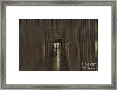 West Virginia Penitentiary Hallway Out Framed Print by Dan Friend