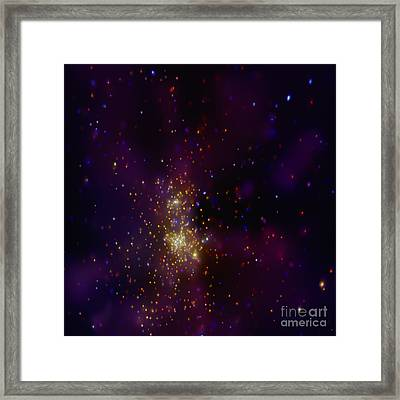 Westerlund 2 Star Cluster Framed Print by Nasa