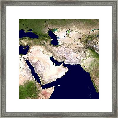 Western Asia, Satellite Image Framed Print by Nasa