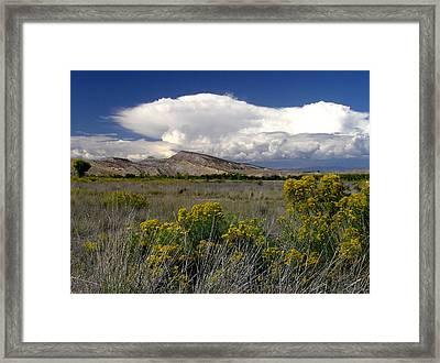 Western Colorado Cloudscape Framed Print
