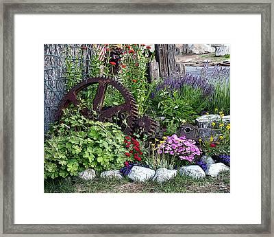 Framed Print featuring the photograph Western Garden by Anne Raczkowski