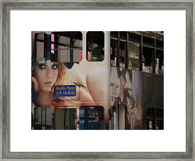 Western Market Eastern Tram Framed Print by Michael Canning
