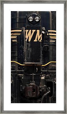 Western Maryland Diesel Framed Print