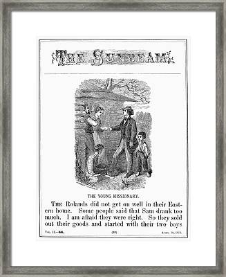 Western Missionary, 1876 Framed Print
