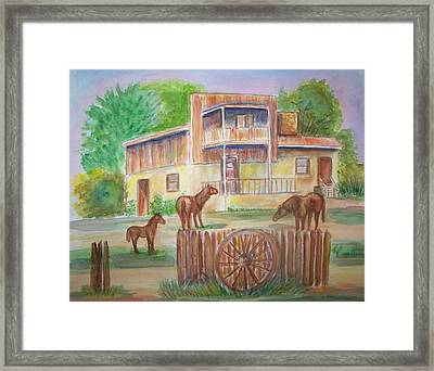 Western Recluse Framed Print by Belinda Lawson