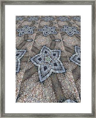 Western Star Tile Framed Print by Michelle Frizzell-Thompson
