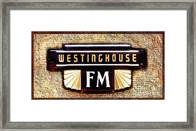 Westinghouse Fm Logo Framed Print by Andee Design