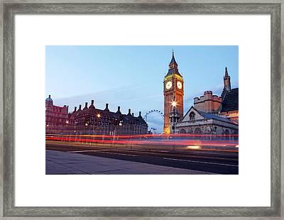 Westminster At Dusk Framed Print by Richard Newstead