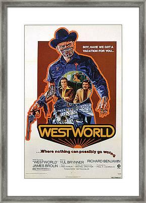 Westworld, Yul Brynner, James Brolin Framed Print