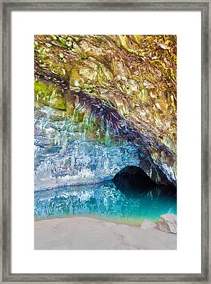 Wet Cave Framed Print by Artistic Photos