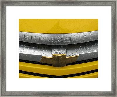 Wet Chevrolet Framed Print by Samuel Sheats