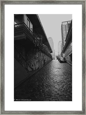 Framed Print featuring the photograph Wet Cobbles by Mitch Shindelbower