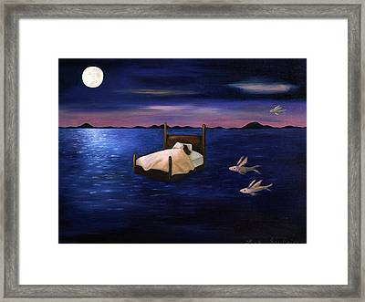 Wet Dreams Framed Print by Leah Saulnier The Painting Maniac