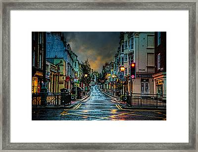 Wet Morning In Kemp Town Framed Print by Chris Lord