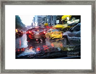Wet Ride Home Framed Print by Jim Moore