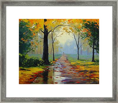 Wet Road Framed Print