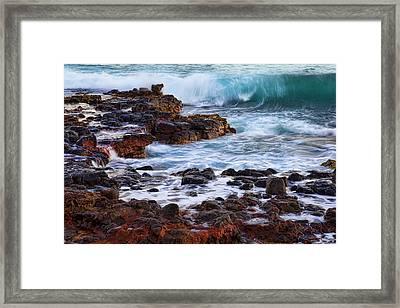 Wet Rocks Framed Print by Kelley King
