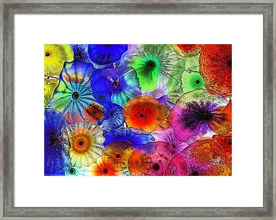 Wet Umbrellas Framed Print