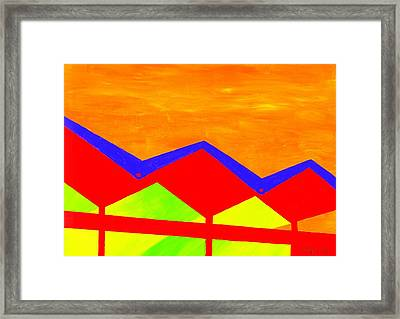 Wexler Folded Roof Four Framed Print by Randall Weidner
