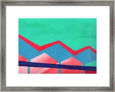 Wexler Folded Roof Seven Framed Print by Randall Weidner