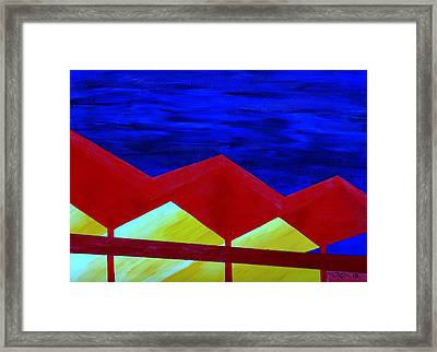 Wexler Folded Roof Six Framed Print by Randall Weidner