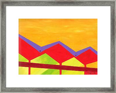 Wexler Folded Roof Three Framed Print by Randall Weidner