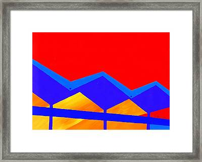 Wexler Folded Roof Two Framed Print by Randall Weidner