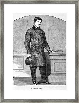 W.f. Windham, English Aristocrat Framed Print by Middle Temple Library