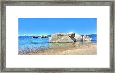Whale Beach North Lake Tahoe Framed Print by Brad Scott