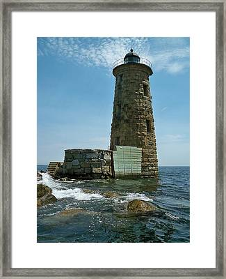 Whaleback Light Framed Print by Rick Frost