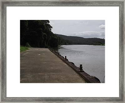 Wharf Framed Print by Rani De Leeuw