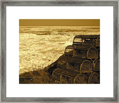 Wharf Traps Framed Print