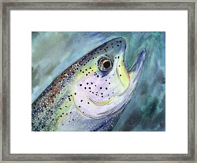 Framed Print featuring the painting What A Beauty by Alethea McKee