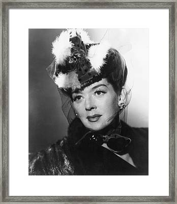 What A Woman, Rosalind Russell, 1943 Framed Print by Everett