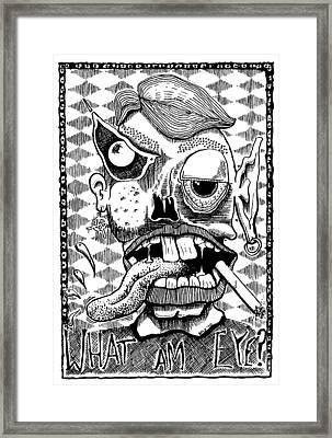 What Am Eye? Framed Print