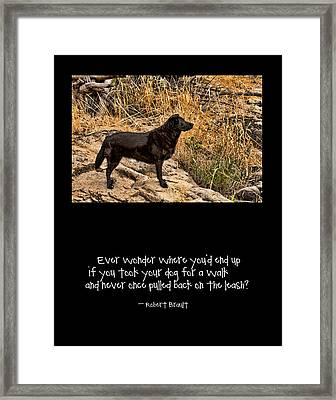 What If Framed Print by Bonnie Bruno