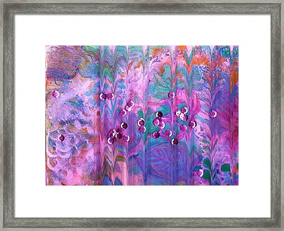 What Is Behind Curtain Framed Print by Anne-Elizabeth Whiteway