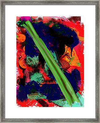 What Is Celery Framed Print by James Thomas
