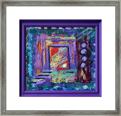 What Is In This Box Framed Print by Karin Eisermann