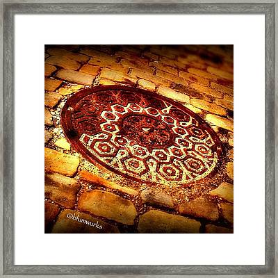 What Lies Beneath Streets Of Gold? Framed Print